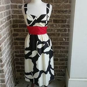 Lilly Pulitzer Silk Blend Black and White Dress